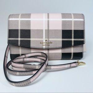 KATE SPADE Laurel Way Winni Plaid crossbody bag
